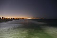 Noche de la playa de Venecia Fotos de archivo libres de regalías