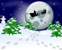 Noche de la tarjeta de Navidad Foto de archivo