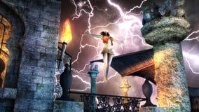 Noche de la tormenta Foto de archivo libre de regalías