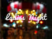 Noche de las señoras de la fraseología fotos de archivo libres de regalías