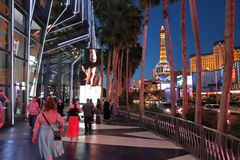 Noche de Las Vegas foto de archivo libre de regalías