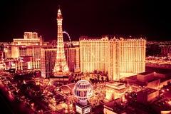 Noche de Las Vegas Imágenes de archivo libres de regalías