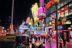 Noche de Las Vegas fotografía de archivo