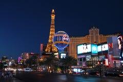 Noche de Las Vegas imagenes de archivo