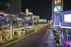 Noche de Las Vegas Blvd fotografía de archivo