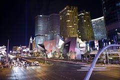 Noche de Las Vegas Blvd Foto de archivo