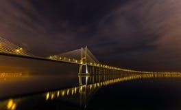 Noche de Lisboa Fotos de archivo