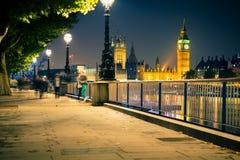 Noche de Londres Foto de archivo libre de regalías