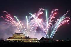 Noche de los fuegos artificiales Fotos de archivo