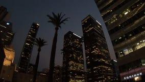Noche de los rascacielos de Los Ángeles almacen de video