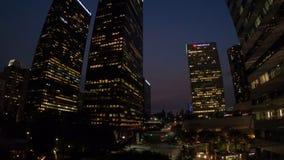 Noche de los rascacielos de Los Ángeles metrajes