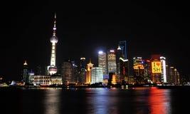 Noche de Lujiazui de Shangai China Imágenes de archivo libres de regalías