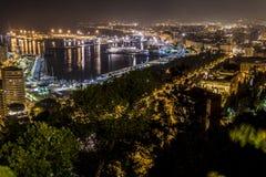 Noche de Málaga Imagenes de archivo