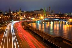 Noche de Moscú Foto de archivo libre de regalías