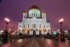 Noche de Moscú Imágenes de archivo libres de regalías
