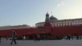 Noche de Moscú el Kremlin del panorama, Rusia almacen de metraje de vídeo