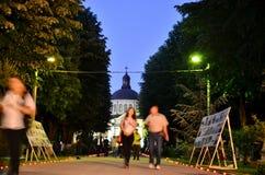 Noche de museos en Bucarest - el museo de Bellu Imágenes de archivo libres de regalías