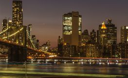 Noche de Nueva York imagenes de archivo