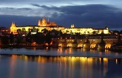 Noche de Praga Imagenes de archivo