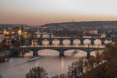 Noche de Praga Imagen de archivo