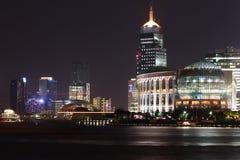 Noche de Pudong Foto de archivo libre de regalías