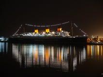 Noche de Queen Mary Imagen de archivo libre de regalías