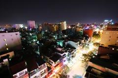 Noche de Saigon Foto de archivo libre de regalías