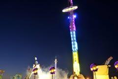 Noche de San Diego County Fair Scene At Fotos de archivo