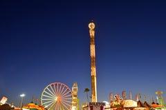 Noche de San Diego County Fair Scene At Foto de archivo