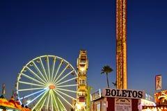 Noche de San Diego County Fair Scene At Imagenes de archivo