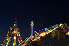 Noche de San Diego County Fair Scene At Fotografía de archivo