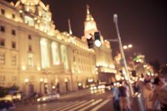 Noche de Shangai imágenes de archivo libres de regalías