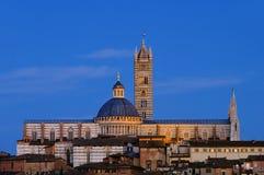 Noche de Siena Fotos de archivo libres de regalías