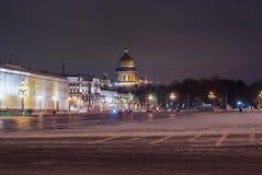 Noche de St Petersburg Foto de archivo libre de regalías