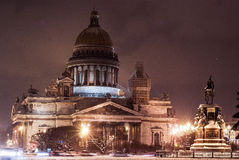 Noche de St Petersburg Fotografía de archivo libre de regalías