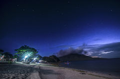Noche de Stary Stary en una isla Fotografía de archivo