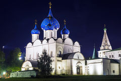 Noche de Suzdal Anillo de oro de Rusia Fotos de archivo libres de regalías