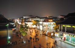 Noche de Suzhou escénica Foto de archivo libre de regalías