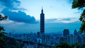 Noche de Taipei Xiangshan almacen de video