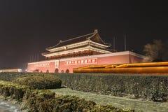 Noche de Tiananmen Fotografía de archivo libre de regalías