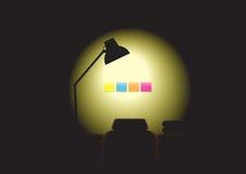 Noche de trabajo - nadie Foto de archivo libre de regalías
