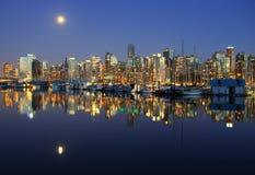 Noche de Vancouver, Canadá Foto de archivo