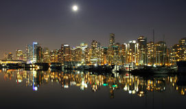 Noche de Vancouver, Canadá Fotografía de archivo