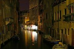 Noche de Venecia imágenes de archivo libres de regalías