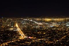 Noche del área de la bahía Imagen de archivo libre de regalías