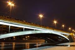 Noche del Año Nuevo en Moscú Imágenes de archivo libres de regalías