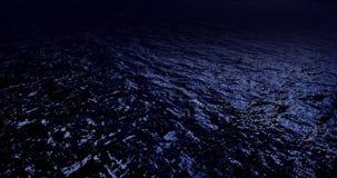Noche a del agua ilustración del vector