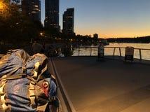 Noche del Backpacker fotografía de archivo libre de regalías