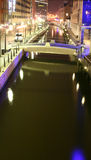 Noche del canal Fotos de archivo