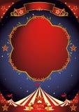 Noche del cartel del circo Imagenes de archivo
